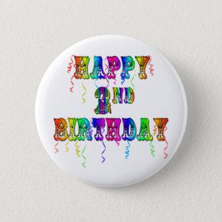 Happy 2nd Birthday Toddler Birthday Gifts Pinback Button