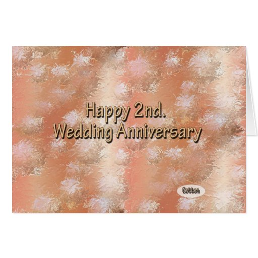 Happy nd wedding anniversary cotton card zazzle