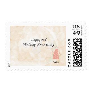 Happy 2nd. Wedding Anniversary Postage