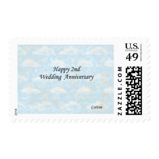 Happy 2nd. Wedding Anniversary Postage Stamps