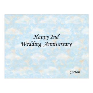 Happy 2nd. Wedding Anniversary Postcard