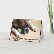 Happy 30th Anniversary boxer dog greeting card