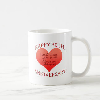 Happy 30th Anniversary Coffee Mug