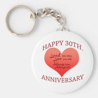Happy 30th Anniversary Keychain