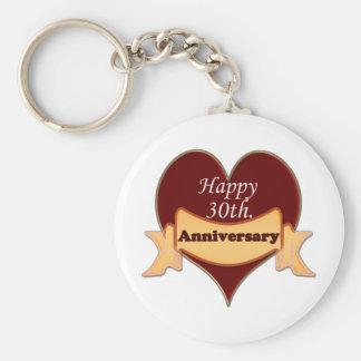 Happy 30th. Anniversary Keychain