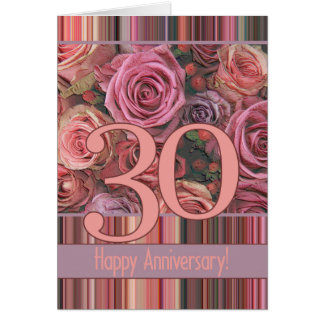 Happy 30th Anniversary roses