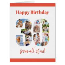 Happy 30th Birthday Big 30 Photo Collage Milestone