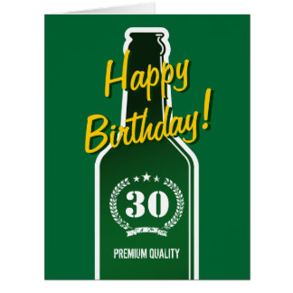 Happy 30th Birthday | Big extra large card for men