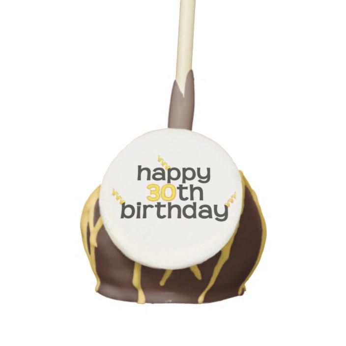 Cool Happy 30Th Birthday Cake Pops Zazzle Com Funny Birthday Cards Online Alyptdamsfinfo