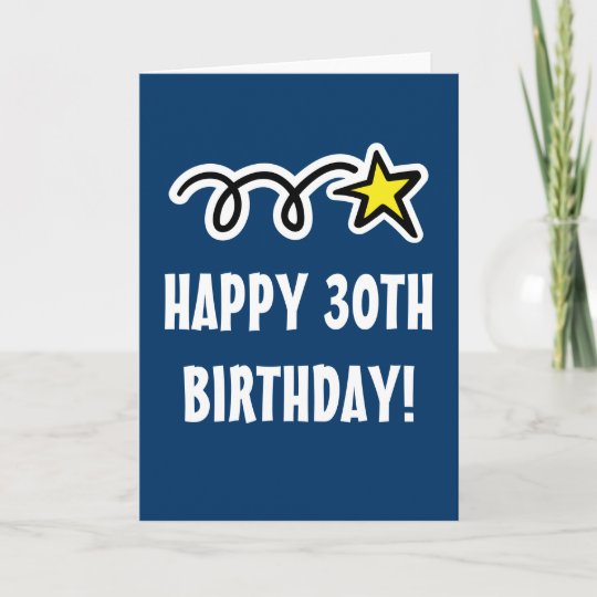 Happy 30th Birthday Card For Men And Women Zazzle