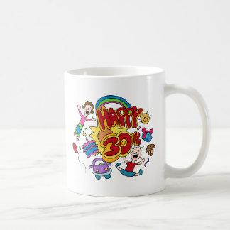 Happy 30th Birthday Cartoon Coffee Mug