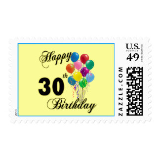 Happy 30th Birthday Gifts and Birthday Apparel Postage