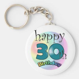 Happy 30th Birthday Keychain