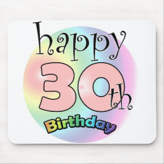 Happy 30th birthday (pink) mouse pad