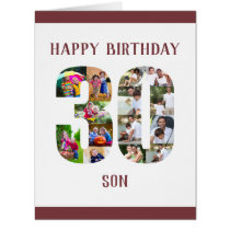 Happy 30th Birthday Son Number 30 Photo Collage