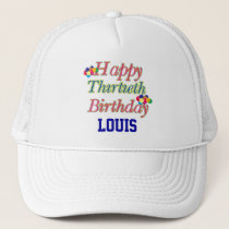 Happy 30th Birthday Trucker Hat
