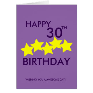 Birthday Wishes 30th Greeting Cards Zazzle Happy Birthday 30th Wishes