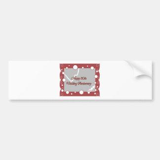 Happy 30th. Pearl Wedding Anniversary Bumper Sticker
