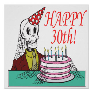 Happy 30th print