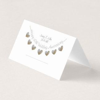 Happy 30th Wedding Anniversary heart placecard