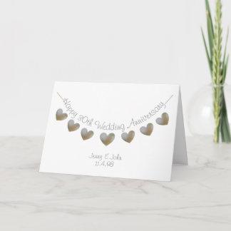 Happy 30th Wedding Anniversary pearl heart card