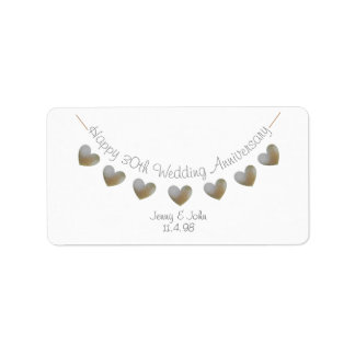 Happy 30th Wedding Anniversary pearl label