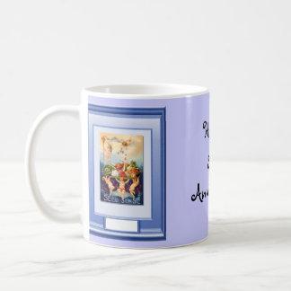 Happy 31st Anniversary  Cherubs and flowers Coffee Mug