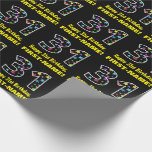 [ Thumbnail: Happy 31st Birthday, Fun Colorful Stars Pattern 31 Wrapping Paper ]