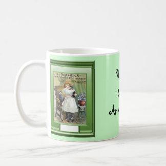 Happy 32nd Anniversary  Girl with kittens Coffee Mugs