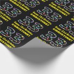 [ Thumbnail: Happy 33rd Birthday, Fun Colorful Stars Pattern 33 Wrapping Paper ]