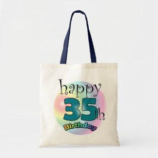 Happy 35th Birthday (blue) Tote Bag