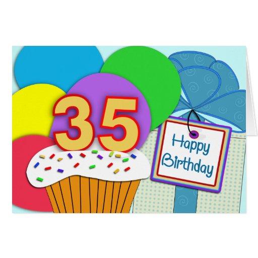 Happy 35th Birthday Card