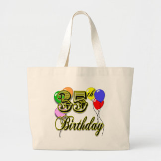Happy 35th Birthday Gifts Large Tote Bag