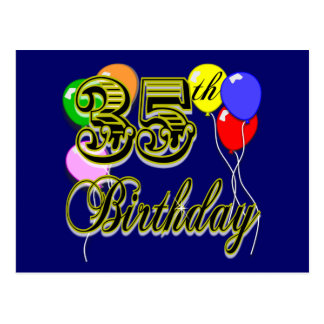 Happy 35th Birthday Gifts Postcard