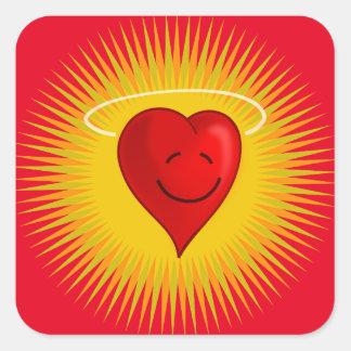 happy-37310 happy face sun cartoon heart angel fre square sticker