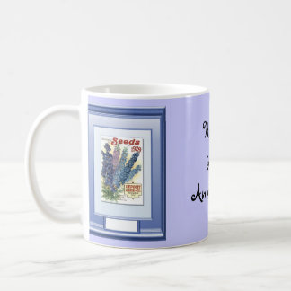 Happy 38th Anniversary, Wispy blue Mugs