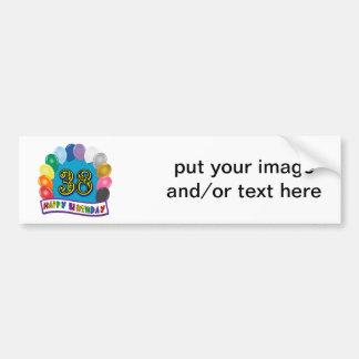 Happy 38th Birthday Balloon Arch Bumper Sticker