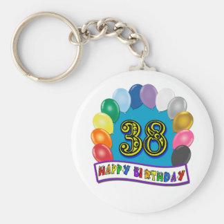 Happy 38th Birthday Balloon Arch Key Chains