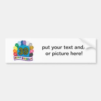 Happy 39th Birthday Balloon Arch Car Bumper Sticker