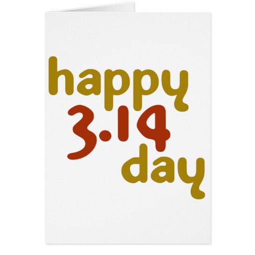 Happy 3.14 day card