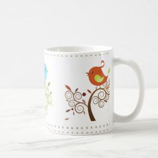 Happy 3 Birds in Seasons Mug