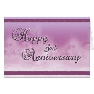 Happy 3rd Anniversary (wedding anniversary) Card