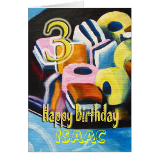 Happy 3rd Birthday Card - Liquorice allsorts
