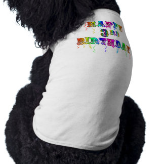 Happy 3rd Birthday Circus Font - Personalize it T-Shirt