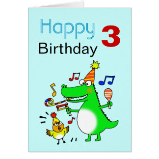 3 Year Old Birthday Boy Greeting Cards | Zazzle