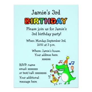 Happy 3rd Birthday ( I am 3 ) Invites