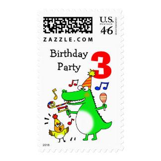 Happy 3rd Birthday ( I am 3 ) Postage Stamp
