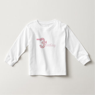 Happy 3rd Birthday Pink T-Shirt