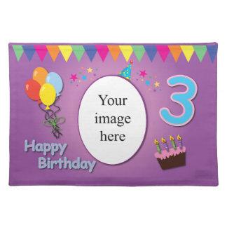 Happy 3rd Birthday Place Mat
