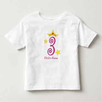 Happy 3rd Birthday, Princess! T Shirt